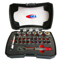 26Pcs Bits Dual Ratchet Wrench Set